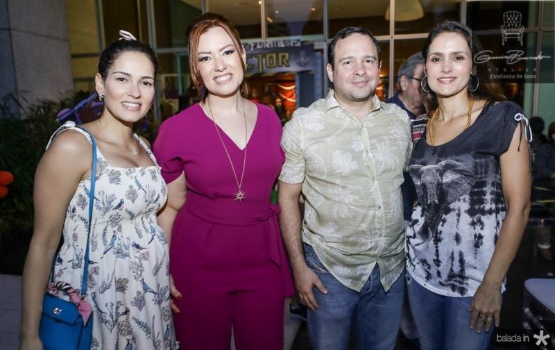 Marilia Queiroz, Aline e Igor Barroso, Manoela Bacelar