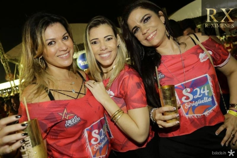 Juliana Albuquerque, Andrea Carla e Heline da Hora
