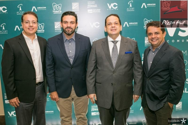 Rodrigo Barroso, Clovis Holanda, Marcos Laje e Germano Albuquerque