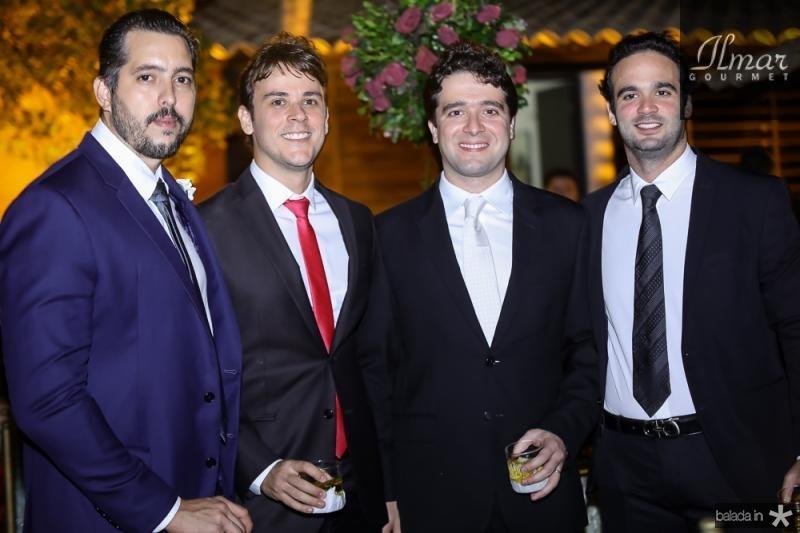 Tiago Leal, Andre Fiuza, Lucas Ponte e Lucas Asfor