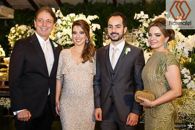 Afranio, Ticiana, Felipe e Daniele Barreira