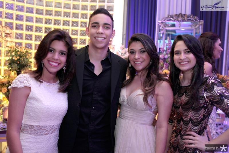 Victoria Benigno,Artur Luna,Betriz Albuquerque e Livia Cavalcante