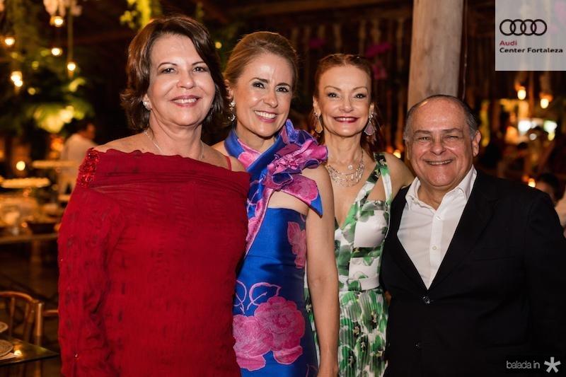 Ana Fiuza, Tereza Ximenes, Carlota e Maximo Fiuza