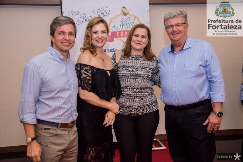 Romulo Alexandre, Enid Camara e Marta Campelo e Carlos Maia