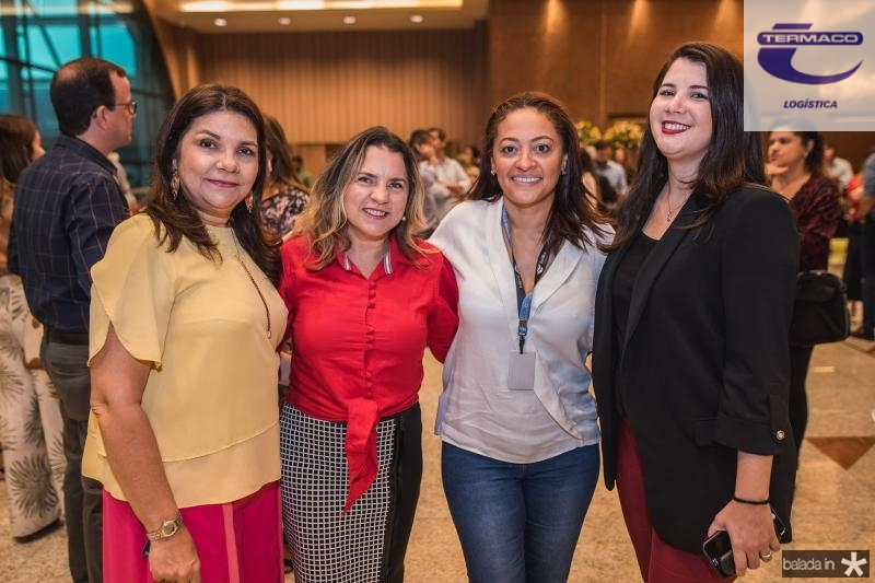 Celina Castro Alves, Nivalda Moreira, Michele Ribeiro e Keila Paiva