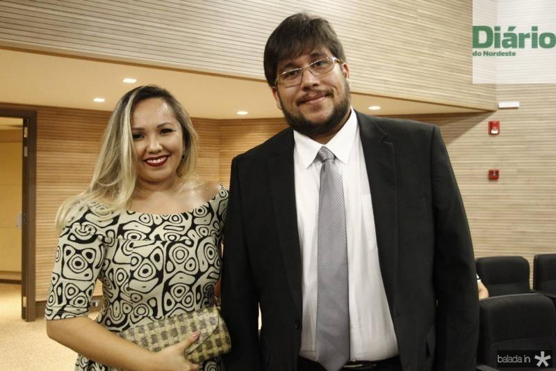 Michele Rodrigues e Luciano Laga