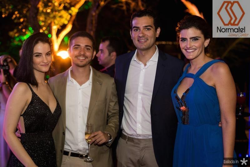Mariana Fiuza, Kid Cosme, Jose? Carlos Machado e Isabela Studart