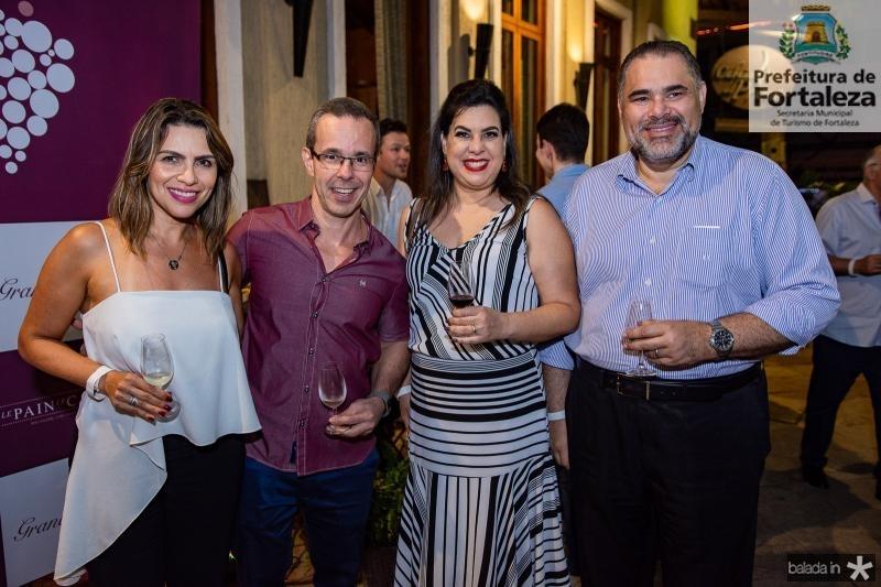Marcia Vale, Miguel Dantes, Patricia Ferreira e Edson Ferreira