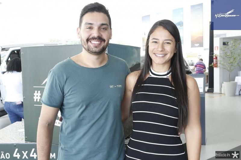 Marcelo Lopes e Larissa Araujo