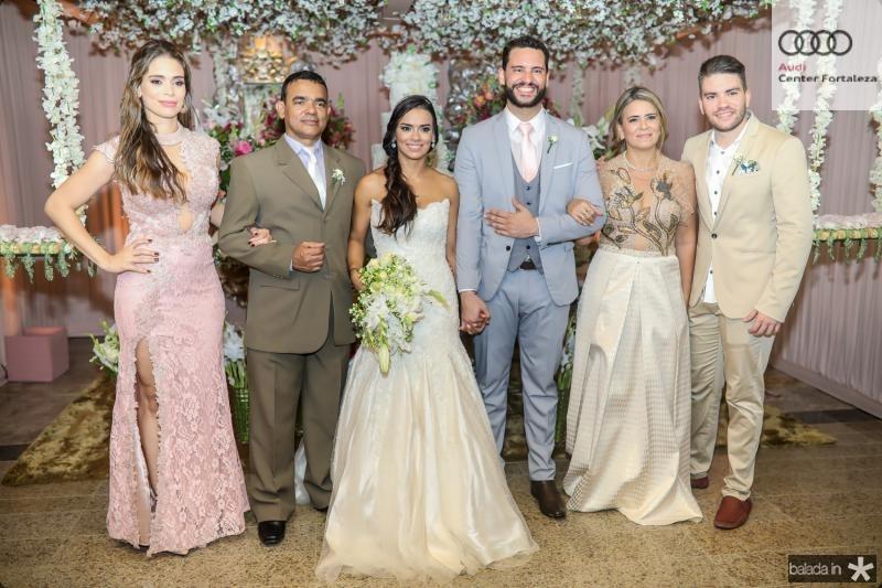 Vanessa Carvalho, Civaldo Sousa, Veruska e Tiago Lobo, Valdira Silva e Leandro Menezes
