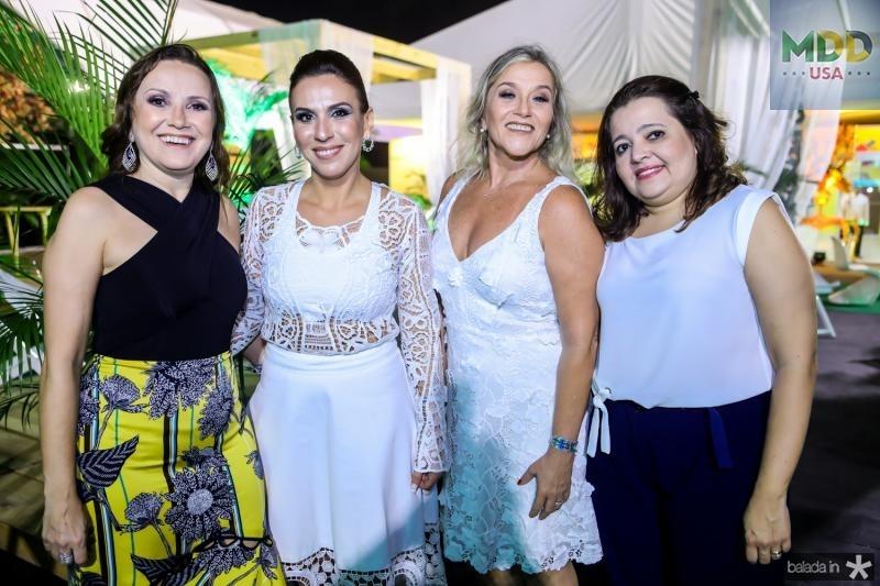 Elza Frota, Samara Fernandes, Flavia Menescal e Cecilia Correia