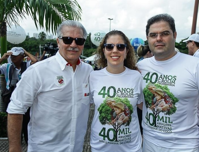 Pio Rolim, Ticiana Rolim e Edson Queiroz Neto