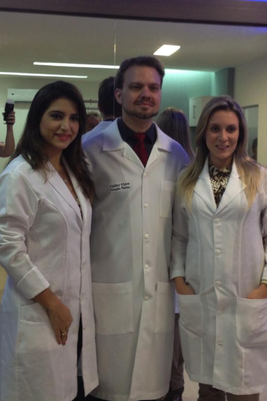 Dra. Camila Rodrigues, dr. Valderi Vieira e dra. Olga Saraiva