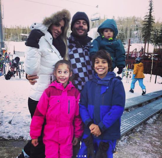 André Cabral e Maria Isabel com os filhos