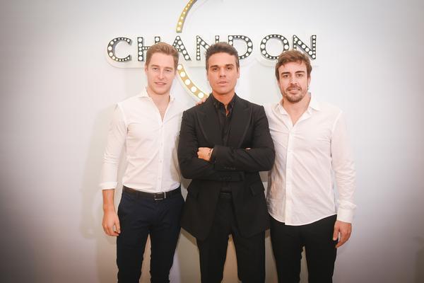 Stoffel Vandoorne, Beto Pacheco e Fernando Alonso