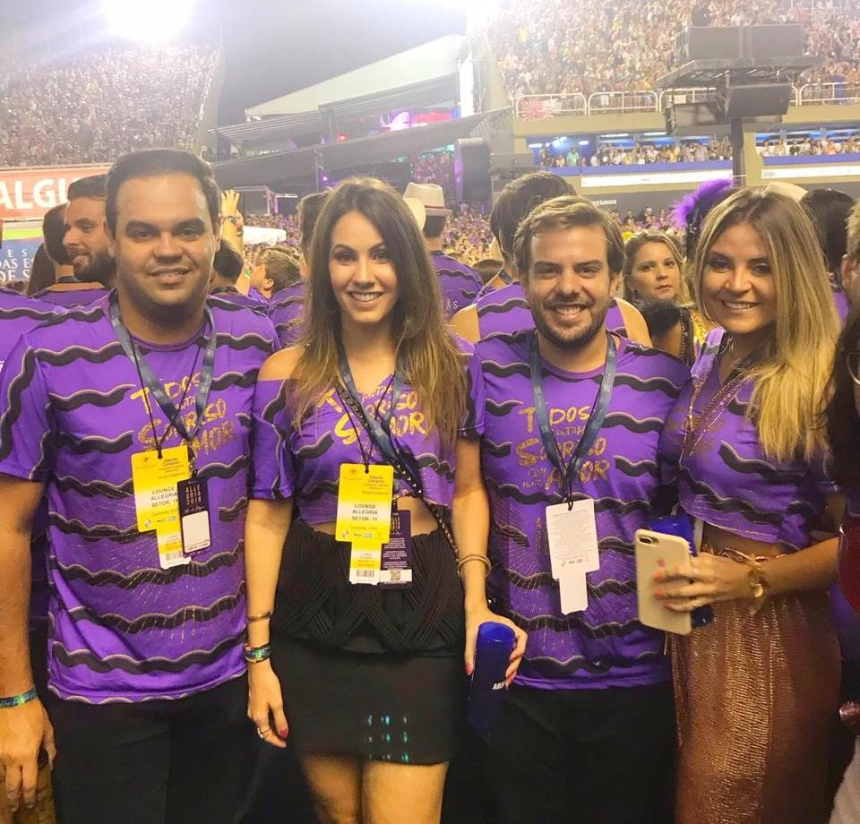 Ivo Dias, Nathalia Brasil, Cláudio Nelson e Fernanda Borges