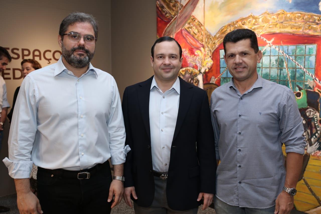 Edson Queiroz Neto, Igor Queiroz Barroso e Erick Vasconcelos