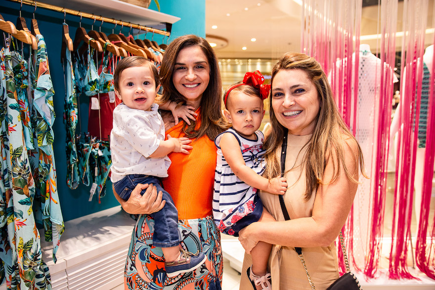 Artur Brasil, Cristina Brasil, Maria Dulce e Valeria Feitosa