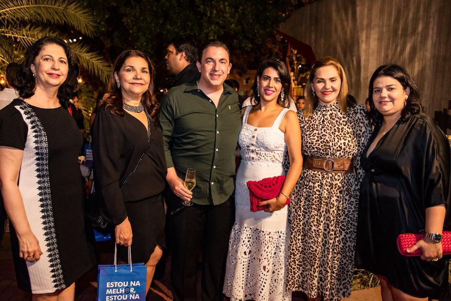Ana Maria Jereissati, Celina Castro Alves, Rodrigo Pereira, Mirian Bastos, Denise Bastos e Camila Câmara