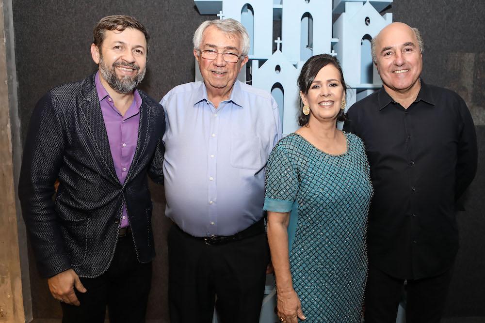 Elcio Batista, Roberto Macedo, Nelma Figueiredo e Silvio Frota