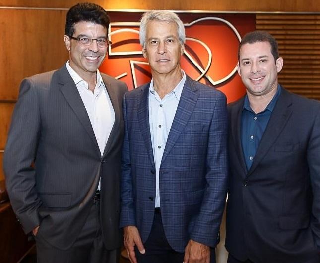 Ronaldo Otoch, David Eisner e Ricardo Oliveira