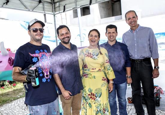 Narcélio Grud, Davi Gomes, Patrícia Macedo, Erick Vasconcelos e Régis Medeiros