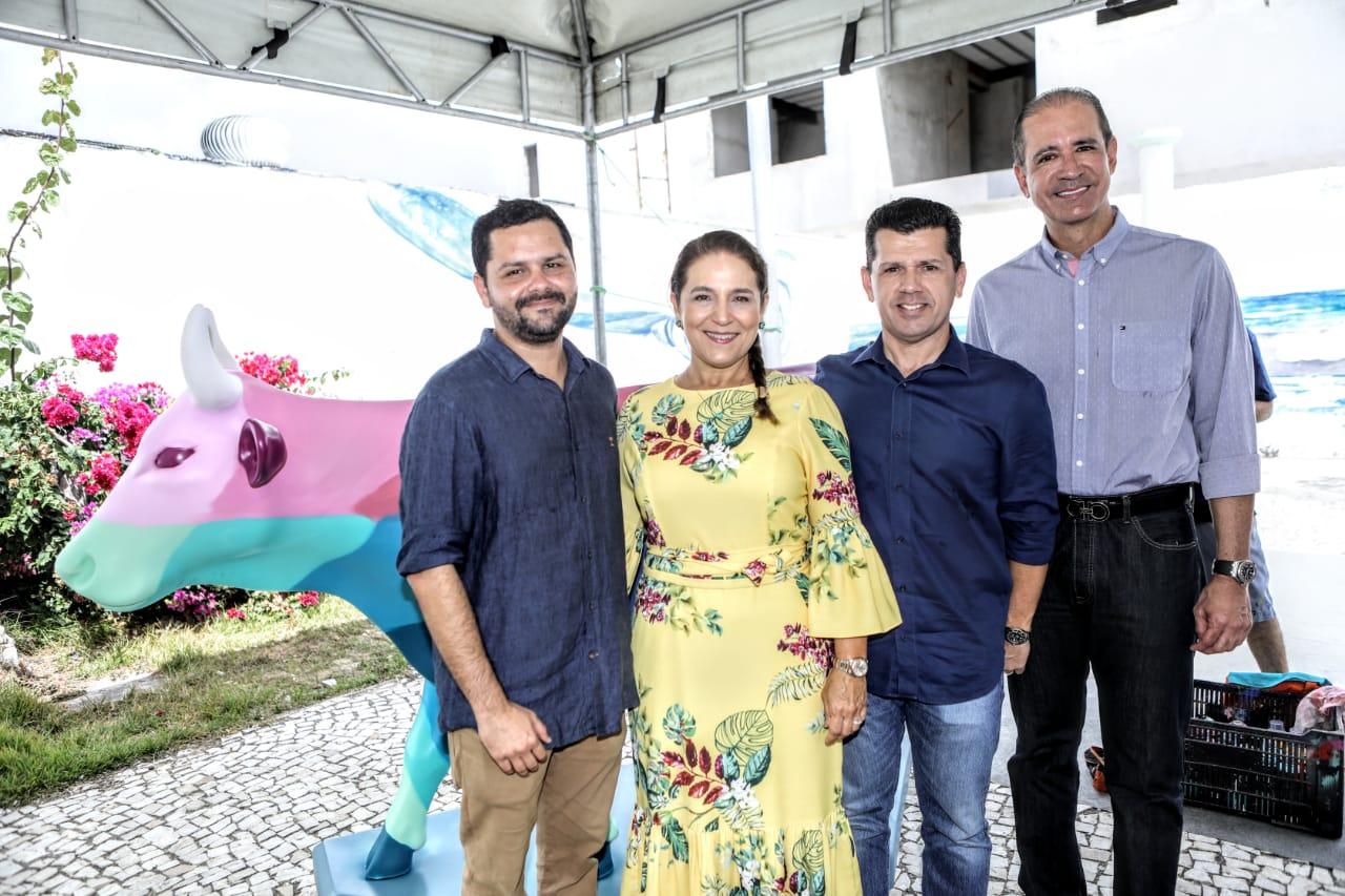 Davi Gomes, Patrícia Macedo, Erick Vasconcelos e Régis Medeiros