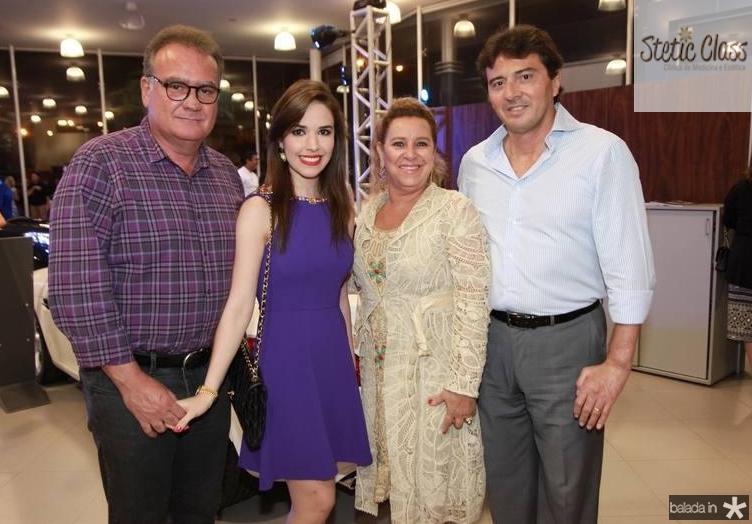 Chiquinho Feitosa, Lúcia Pinheiro, Brícia e Luiz Teixeira