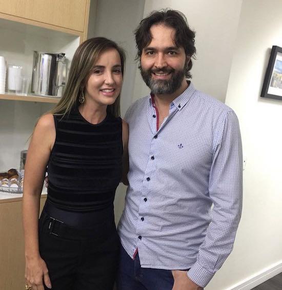 Kaline Ferraz e Maurício de Maio