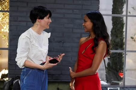 Vanessa Rozan e  Zoe Saldana