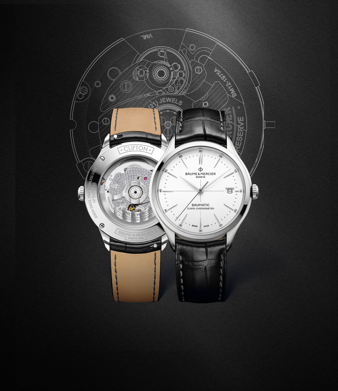 Linha de relógios com movimento Baumatic