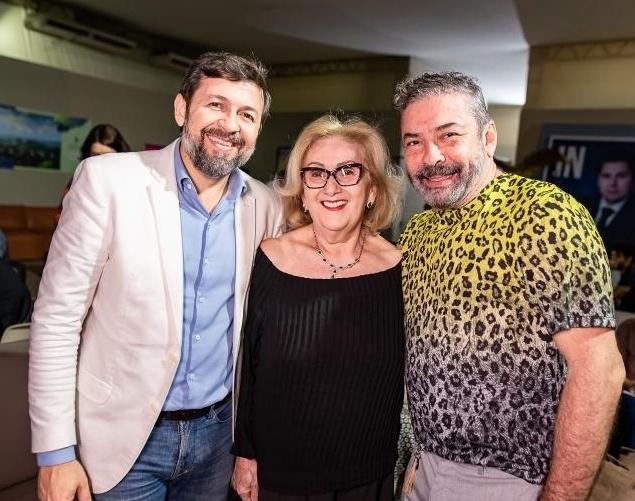 Élcio Batista, Socorro Franca e Cláudio Silveira