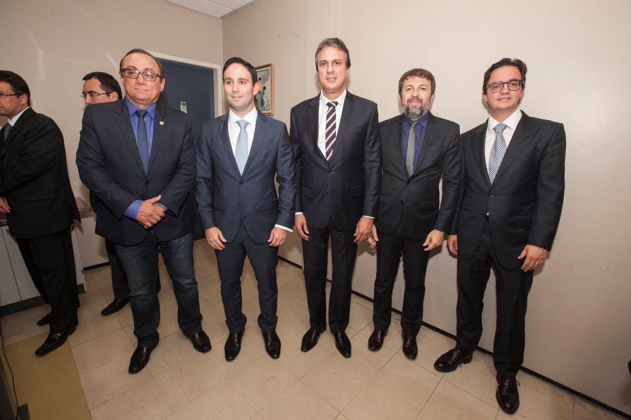 Tim Gomes, Tiago Asfor, Camilo Santana, Élico Batista e Zezinho Albuquerque