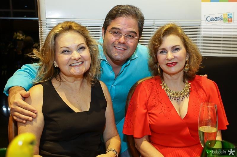 Lenise Rocha, Edson Neto e Renata Jereissati