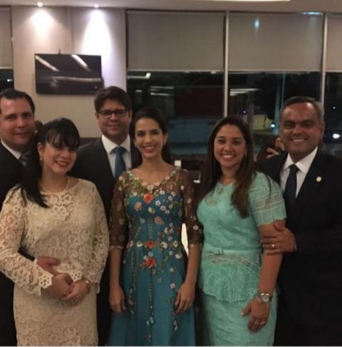 Ticiana e Alexandre Queiroz, Beatriz e Leonardo Carvalho, Renata e Marcelo Mota