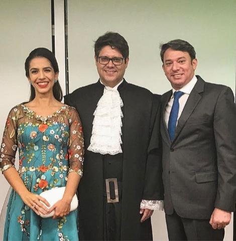 Beatriz e Leonardo Carvalho com Paulo Vale