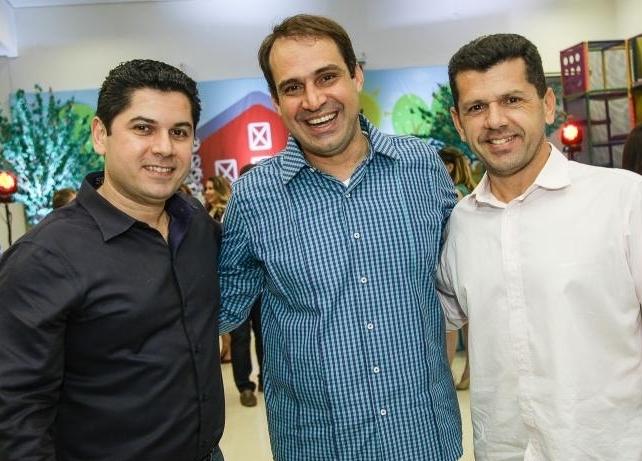 Pompeu Vasconcelos, Salmito Filho e Erick Vasconcelos