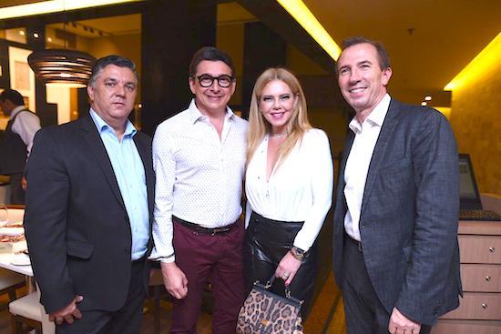 Paulo Cesar Ribeiro, Racine Mourao, Branca Mourao e Philip Godefront