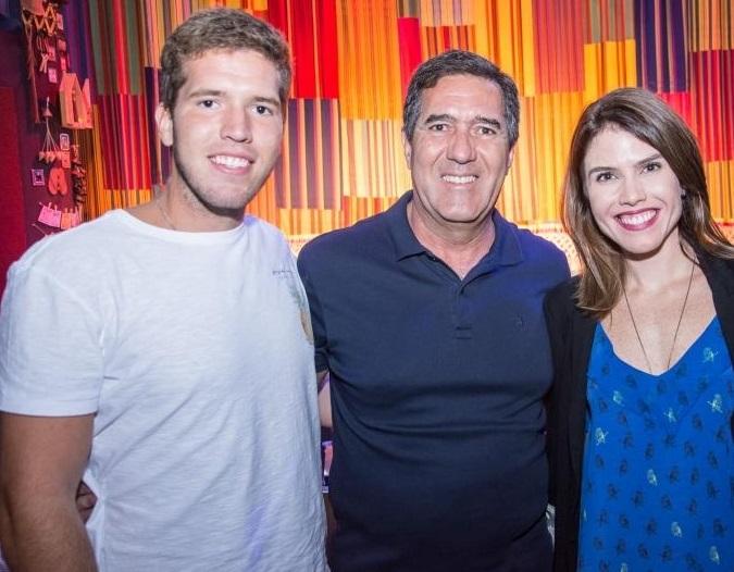 Lucas, Luiz Gastão e Luana Bittencourt