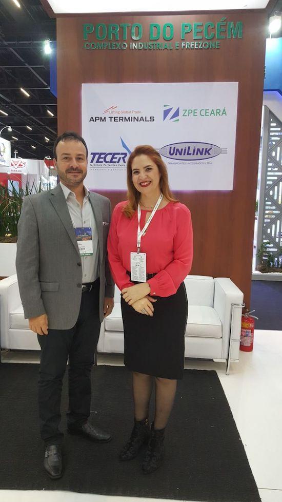Danilo Serpa e Enid Câmara na Intermodal 2018