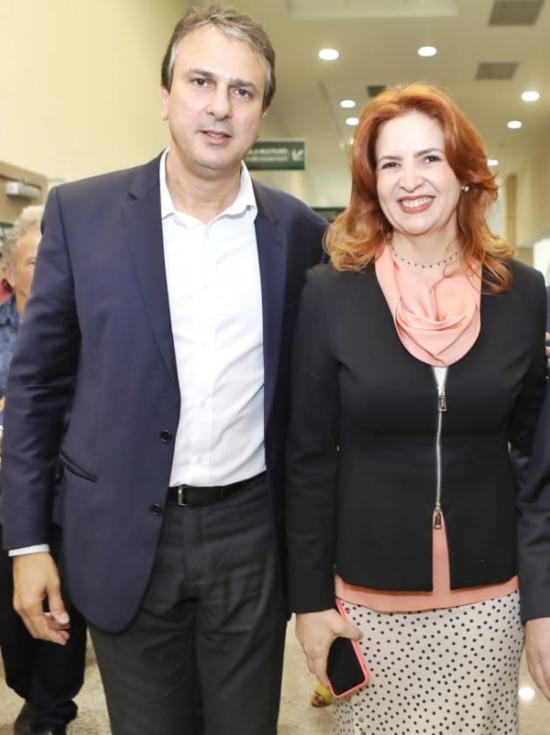 Camilo Santana e Enid Câmara