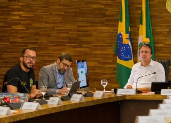 André Costa, Élcio Batista e Camilo Santana