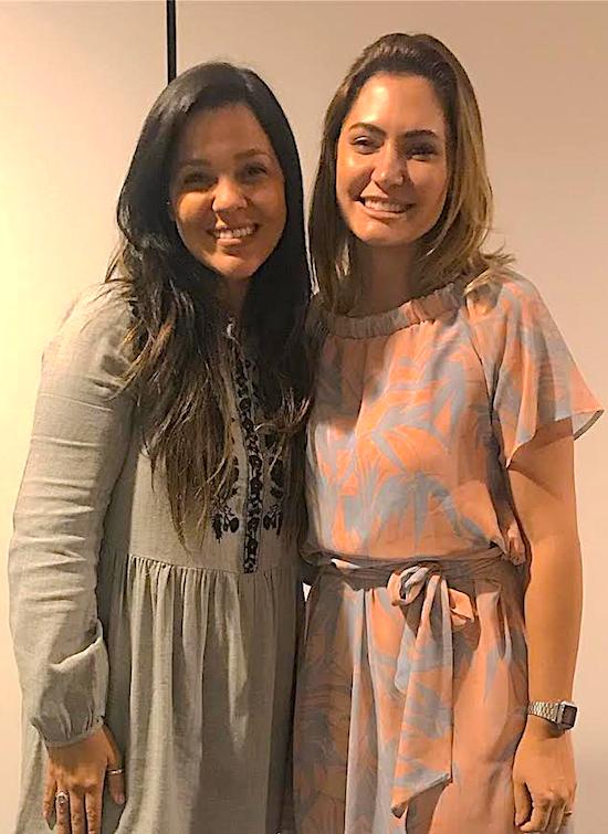 Priscila Costa e Michelle Bolsonaro