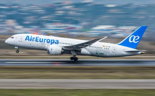 Air Europa tem elevada taxa de ocupação no voo Madri-Fortaleza
