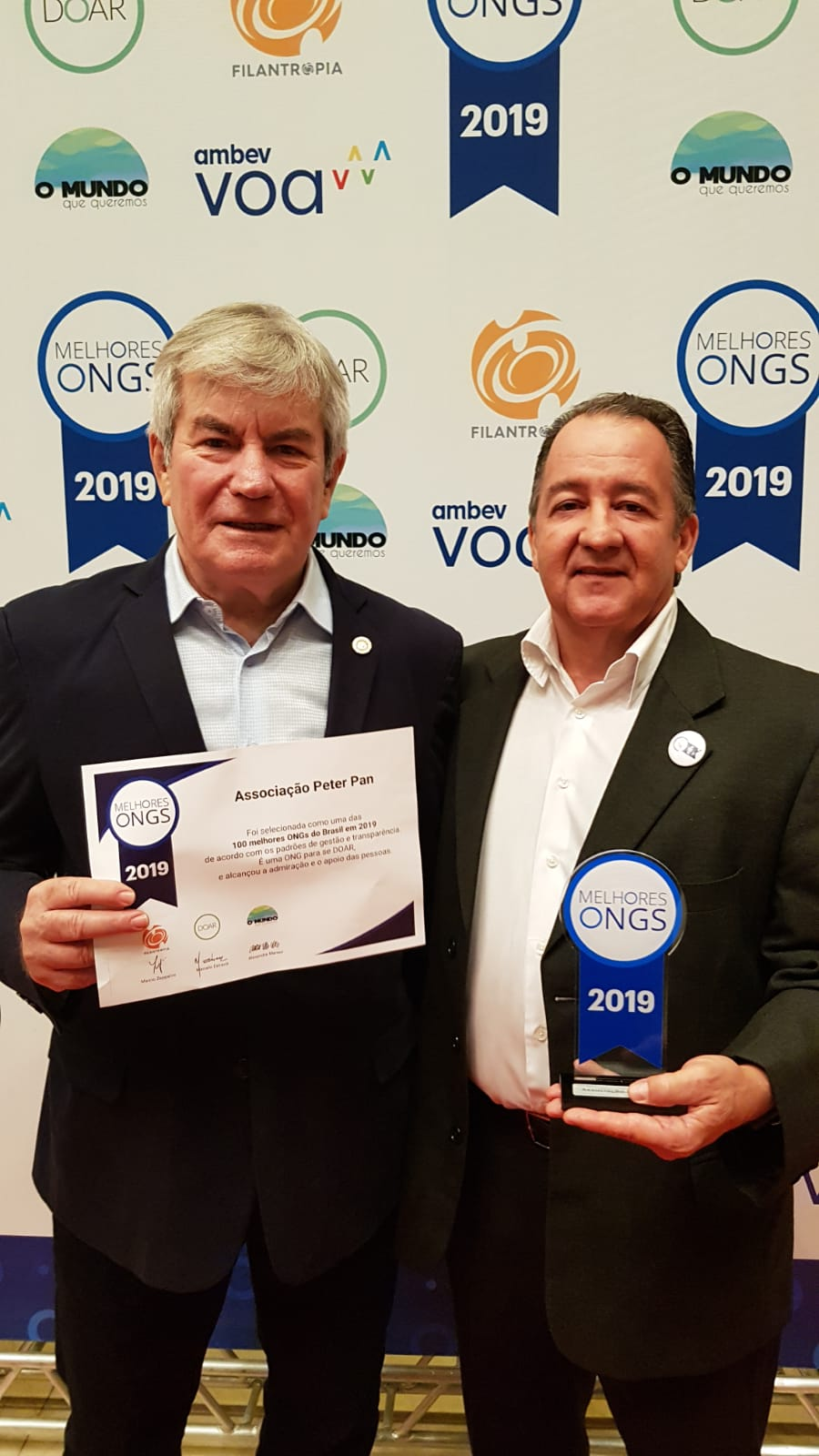 Associação Peter Pan foi eleita a melhor ONG do Brasil em 2019