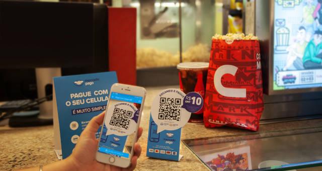 Parceria entre Mercado Pago e Cinemark permite pagamentos via Código QR