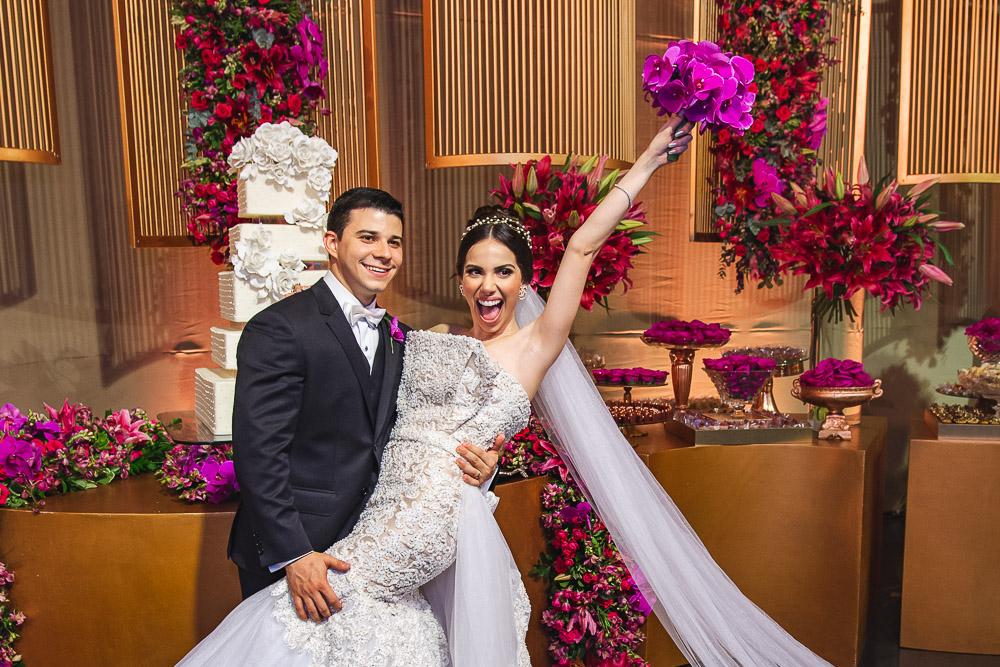 Ideal Clube serve de cenário do belíssimo casamento de Nicole Vasconcelos e Pedro Paulo Carapeba