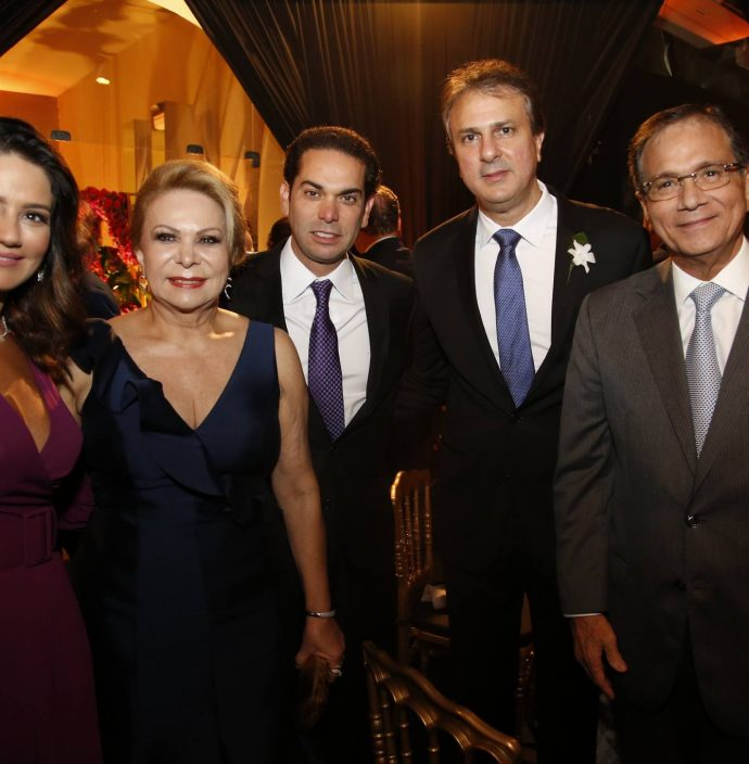 Renata, Iracema E Claudio Vale, Camilo Santana E Beto Studart