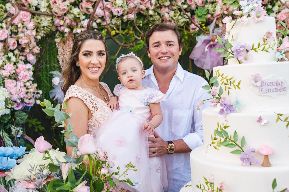 Roberta Ary e Dico Carneiro Neto celebram o primeiro aninho de Maria Eduarda