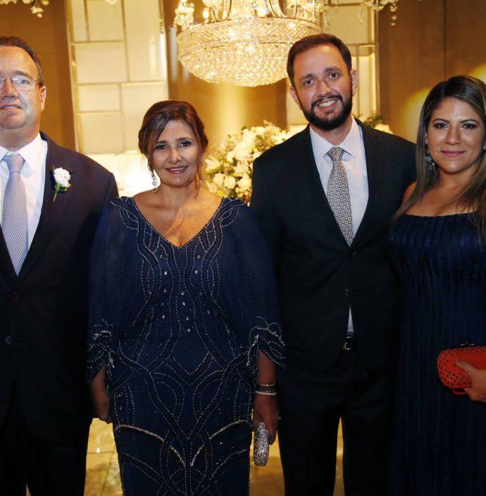 Sergio, Simone, Sergio Filho E Monica Jereissati